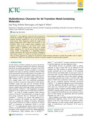 Multireference Character for 4d Transition Metal-Containing Molecules