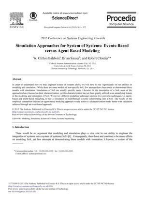 Simulation Approaches for System of Systems: Event-Based versus Agent Based Modeling