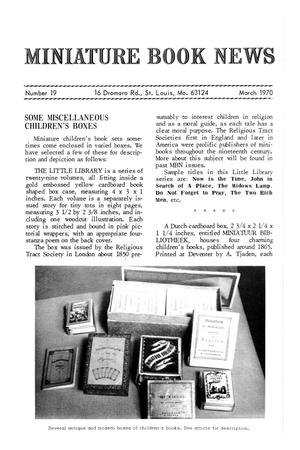 Primary view of object titled 'Miniature Book News # 19: 1970 March'.