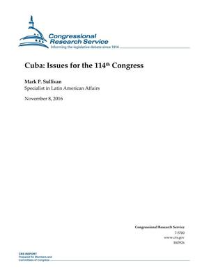 Primary view of object titled 'Cuba: Issues for the 114th Congress'.