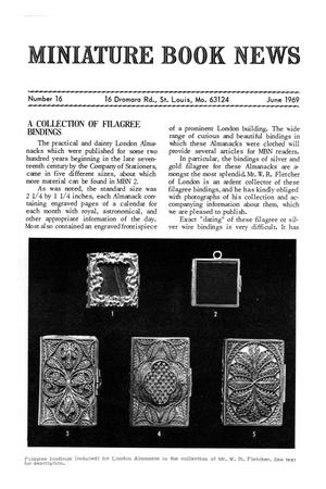 Primary view of object titled 'Miniature Book News # 16: 1969 June'.