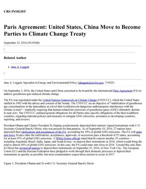 Primary view of object titled 'Paris Agreement: United States, China Move to Become Parties to Climate Change Treaty'.