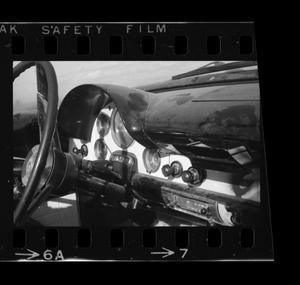 Primary view of object titled '[Photo of a 1956 Ford dashboard]'.