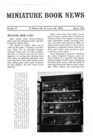 Primary view of object titled 'Miniature Book News # 15: 1969 March'.