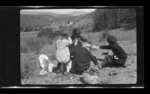 Primary view of object titled '[Williams family picnicking]'.