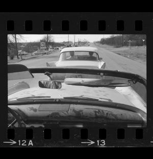 Primary view of object titled '[Photo of the back of a 1958 Studebaker]'.