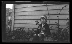 Primary view of object titled '[Photo of Charles Williams as a young boy]'.