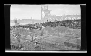 Primary view of object titled '[Workers on a construction site]'.