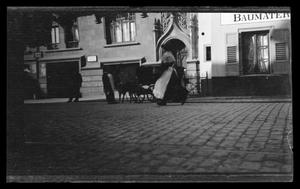 Primary view of object titled '[Street scene in an unknown German city]'.