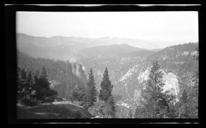 Primary view of object titled '[Landscape of a canyon and forest]'.