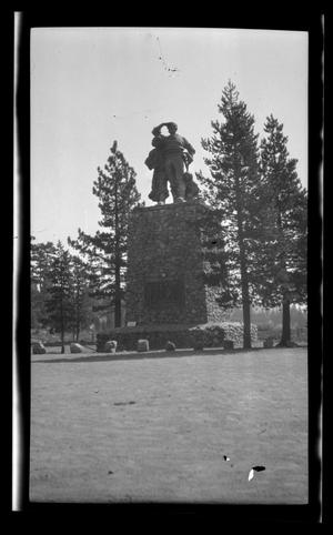 Primary view of object titled '[The Pioneer Monument at Donner Memorial State Park in Truckee, California]'.