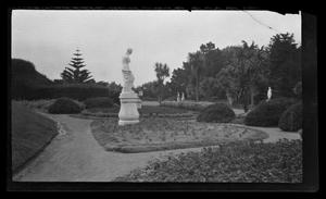 Primary view of object titled '[A garden with statues]'.