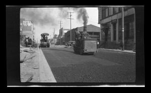 Primary view of object titled '[Paving Palos Verdes Street in San Pedro, California]'.