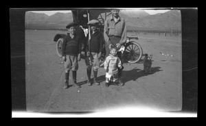 Primary view of object titled '[Irene Williams and kids]'.
