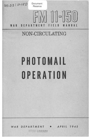 Primary view of object titled 'Photomail operation.'.