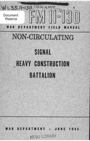 Primary view of object titled 'Signal heavy construction battalion.'.