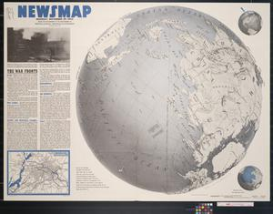 Primary view of object titled 'Newsmap. Monday, November 29, 1943 : week of November 18 to November 25, 220th week of the war, 102nd week of U.S. participation'.