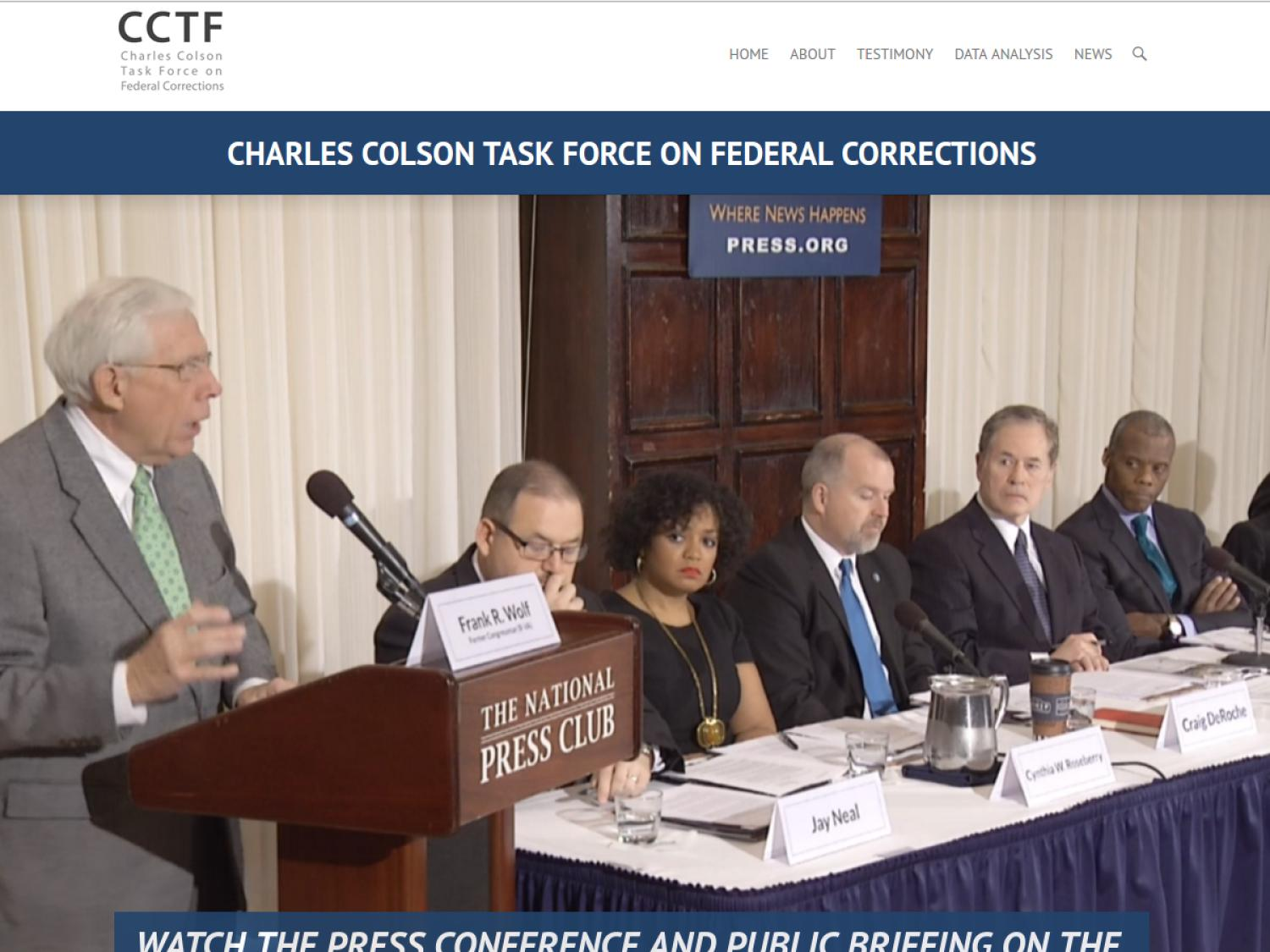 Charles Colson Task Force on Federal Corrections                                                                                                      [Sequence #]: 1 of 1