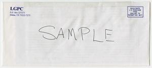Primary view of object titled '[Sample envelope of Triangle News newsletter]'.