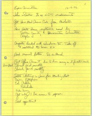 Primary view of object titled '[Handwritten notes from committee meeting]'.