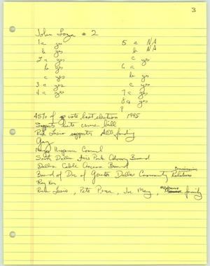 Primary view of object titled '[Handwritten notes on John Loza]'.