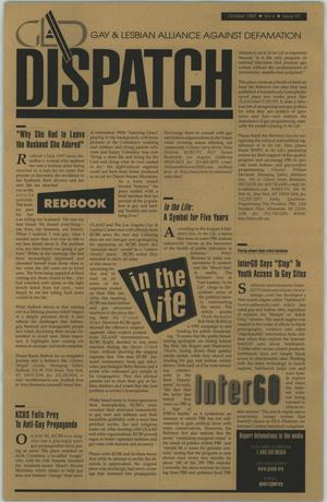 Primary view of object titled '[Newsletter: Gay and Lesbian Alliance Against Defamation - Dispatch]'.