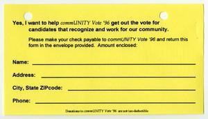 community vote donation slip digital library