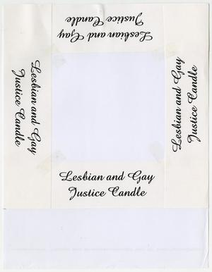 Primary view of object titled '[Lesbian and Gay Justice Candle taped]'.