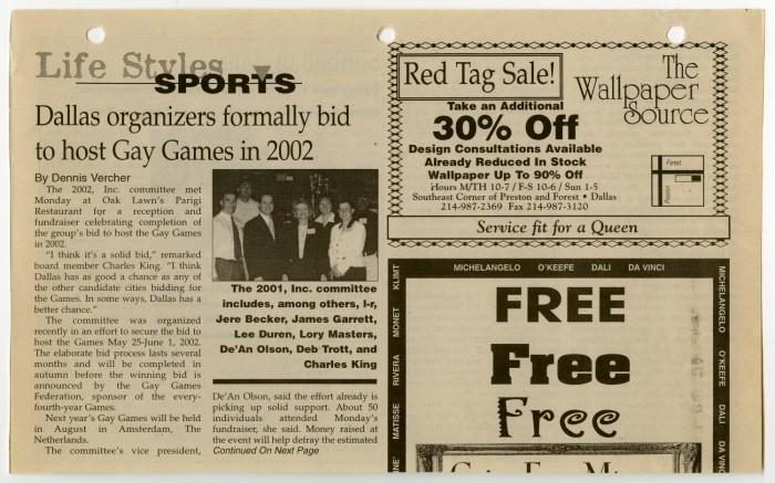 Free gay newspaper