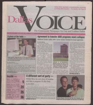 Primary view of object titled '[Dallas Voice newspaper with articles concerning gay rights in the United States]'.
