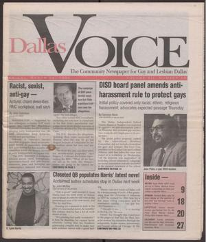 Primary view of object titled '[Issue of Dallas Voice with articles pertaining to gay rights in the United States with focus on Texas and Dallas]'.