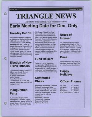 Primary view of object titled '[December 1996 issue of the Triangle News newsletter]'.