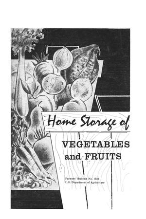 Primary view of object titled 'Home storage of vegetables and fruits'.