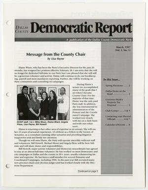 Primary view of object titled '[March 1997 issue of the Dallas County Democratic Report newsletter]'.