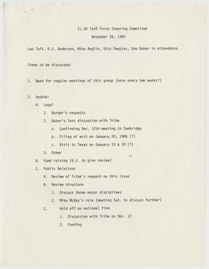 Primary view of object titled '[Texas Penal Code 21.06 Task Force Steering Committee notes]'.
