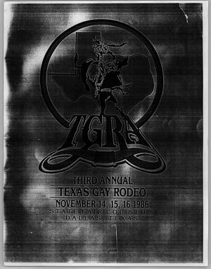 Primary view of object titled '[Third Annual Texas Gay Rodeo poster]'.