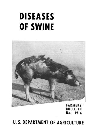 Primary view of object titled 'Diseases of swine.'.