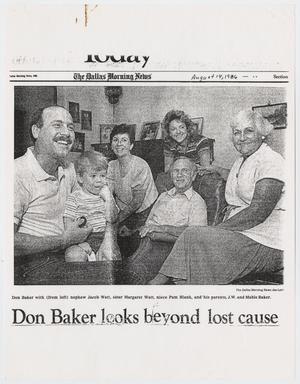 Primary view of object titled '[Clippings from Dallas Morning News pertaining to Don Baker anti-sodomy case]'.