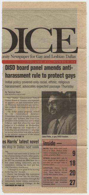 Primary view of object titled '[Dallas Voice clipping: DISD board panel amends anti-harassment rule to protect gays]'.