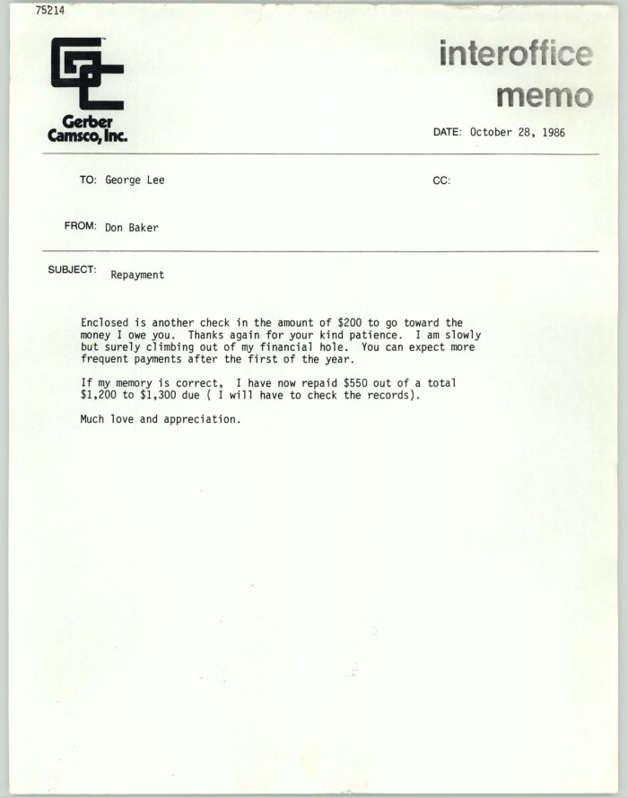 Primary View Of Object Titled U0027[Fax Cover Sheet From Don Baker To George Lee