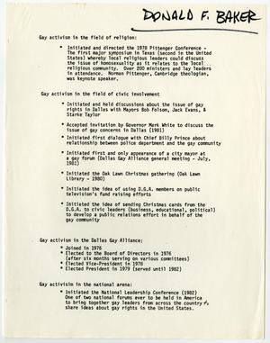 Primary view of object titled '[Gay activism on various organizations]'.