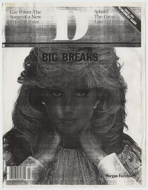 Primary view of object titled '[B & W photocopy of D Magazine focusing on gay rights and politics]'.