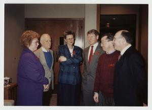 Primary view of object titled '[Vivienne Armstrong, Phil Johnson, Louise Young, Jack Pettit, Dick Peeple, and Don Baker]'.