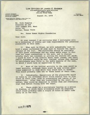 Primary view of object titled '[Fax response to Texas Human Rights Foundation]'.