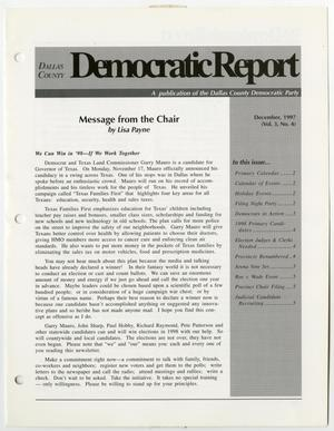 Primary view of object titled '[December 1997 issue of the Dallas County Democratic Report]'.
