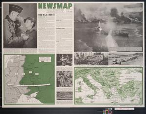 Primary view of object titled 'Newsmap. Monday, November 22, 1943 : week of November 11 to November 18, 219th week of the war, 101st week of U.S. participation'.