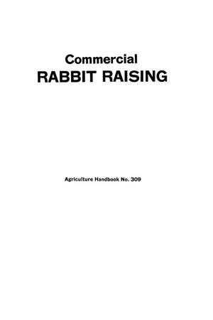 Primary view of object titled 'Commercial rabbit raising.'.