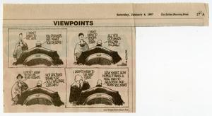 Primary view of object titled '[Political cartoon from The Dallas Morning news pertaining to AIDS and the government]'.