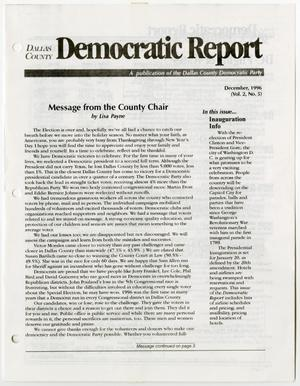 Primary view of object titled '[December 1996 issue of the Dallas County Democratic Report newsletter]'.
