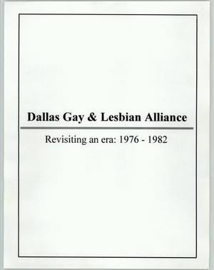 Primary view of object titled '[Dallas Gay and Lesbian Alliance objectives from 1976 - 1982]'.